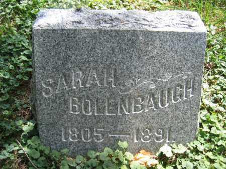 BOLENBAUGH, SARAH - Union County, Ohio | SARAH BOLENBAUGH - Ohio Gravestone Photos