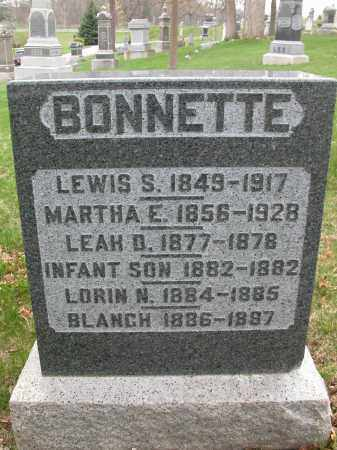 BONNETTE, LEAH D. - Union County, Ohio | LEAH D. BONNETTE - Ohio Gravestone Photos