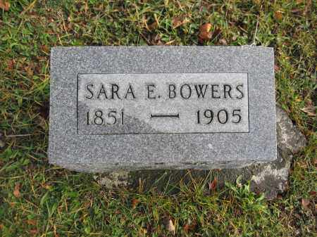 BOWERS, SARA E. - Union County, Ohio | SARA E. BOWERS - Ohio Gravestone Photos
