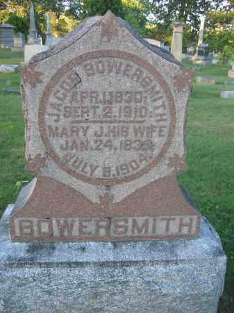 BOWERSMITH, MARY J. - Union County, Ohio | MARY J. BOWERSMITH - Ohio Gravestone Photos