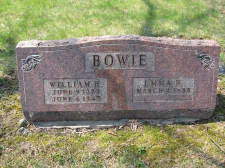 BOWIE, EMMA N. - Union County, Ohio | EMMA N. BOWIE - Ohio Gravestone Photos