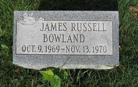 BOWLAND, JAMES RUSSELL - Union County, Ohio | JAMES RUSSELL BOWLAND - Ohio Gravestone Photos