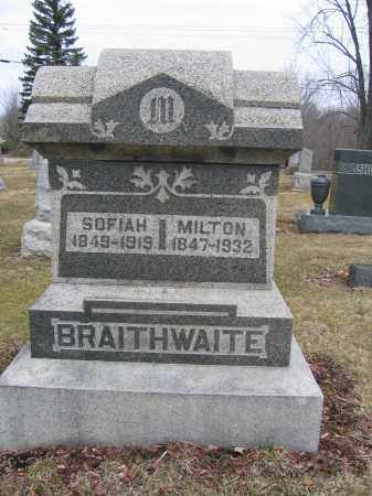 BRAITHWAITE, MILTON - Union County, Ohio | MILTON BRAITHWAITE - Ohio Gravestone Photos