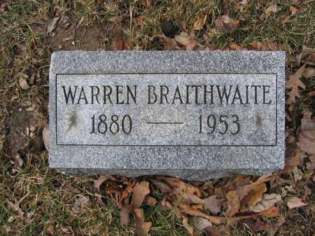 BRAITHWAITE, WARREN - Union County, Ohio | WARREN BRAITHWAITE - Ohio Gravestone Photos
