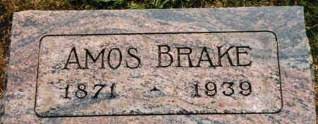 BRAKE, AMOS - Union County, Ohio | AMOS BRAKE - Ohio Gravestone Photos