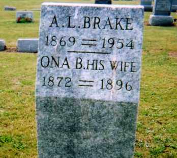BRAKE, ALMON LESTER - Union County, Ohio | ALMON LESTER BRAKE - Ohio Gravestone Photos