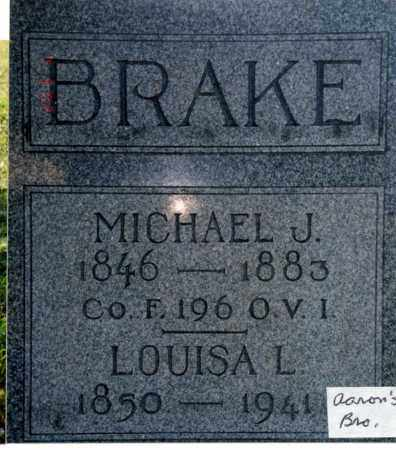BRAKE, LOUISA L. BROWN - Union County, Ohio | LOUISA L. BROWN BRAKE - Ohio Gravestone Photos