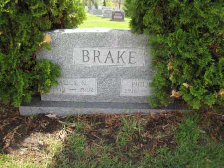 BRAKE, ALICE N. - Union County, Ohio | ALICE N. BRAKE - Ohio Gravestone Photos