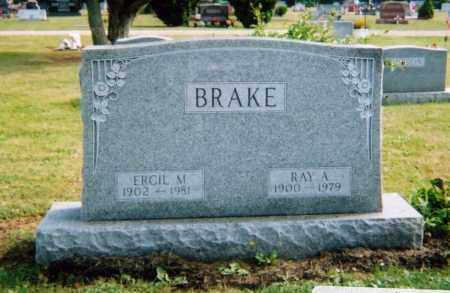 BRAKE, RAY ALLEN - Union County, Ohio | RAY ALLEN BRAKE - Ohio Gravestone Photos