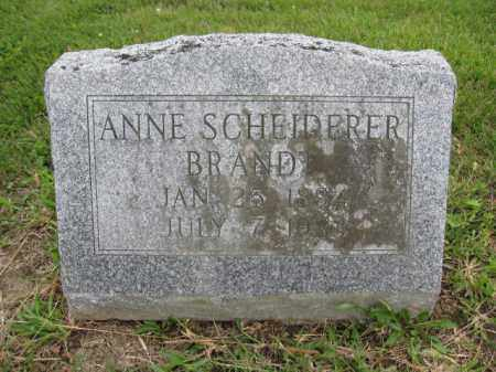 BRANDT, ANNE SCHEIDERER - Union County, Ohio | ANNE SCHEIDERER BRANDT - Ohio Gravestone Photos