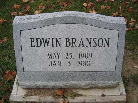 BRANSON, EDWIN - Union County, Ohio | EDWIN BRANSON - Ohio Gravestone Photos