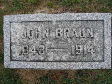 BRAUN, JOHN - Union County, Ohio | JOHN BRAUN - Ohio Gravestone Photos