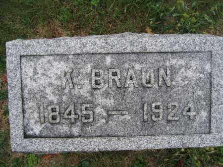 BRAUN, K. - Union County, Ohio | K. BRAUN - Ohio Gravestone Photos
