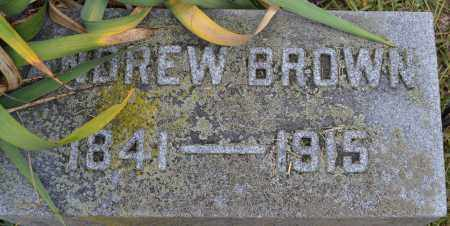 BROWN, ANDREW - Union County, Ohio | ANDREW BROWN - Ohio Gravestone Photos