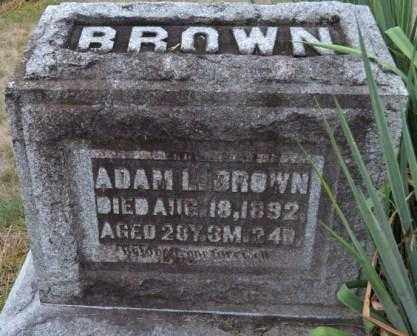 BROWN, ADAM L. - Union County, Ohio | ADAM L. BROWN - Ohio Gravestone Photos