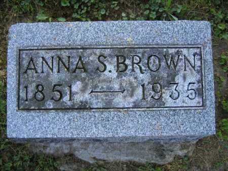 BROWN, ANNA S. - Union County, Ohio | ANNA S. BROWN - Ohio Gravestone Photos