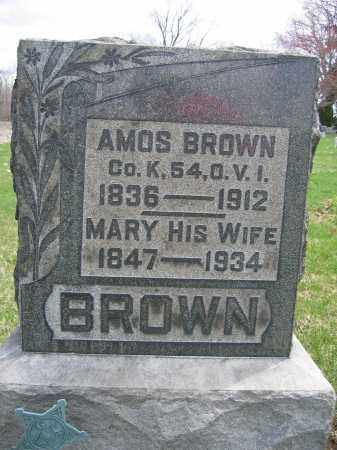 BROWN, MARY - Union County, Ohio | MARY BROWN - Ohio Gravestone Photos