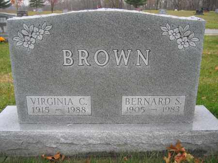 BROWN, VIRGINIA C. - Union County, Ohio | VIRGINIA C. BROWN - Ohio Gravestone Photos