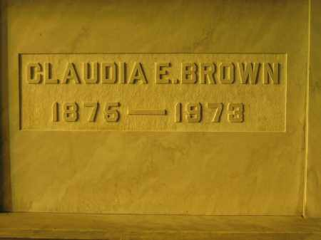 BROWN, CLAUDIA E. - Union County, Ohio | CLAUDIA E. BROWN - Ohio Gravestone Photos