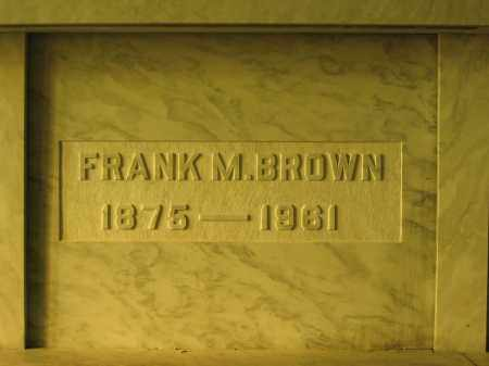 BROWN, FRANK M. - Union County, Ohio | FRANK M. BROWN - Ohio Gravestone Photos