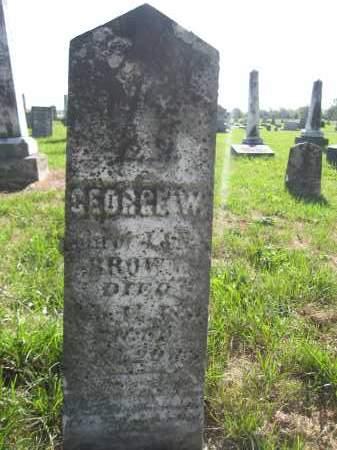 BROWN, GEORGE W. - Union County, Ohio | GEORGE W. BROWN - Ohio Gravestone Photos