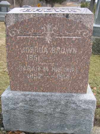 BROWN, JOSHUA - Union County, Ohio | JOSHUA BROWN - Ohio Gravestone Photos