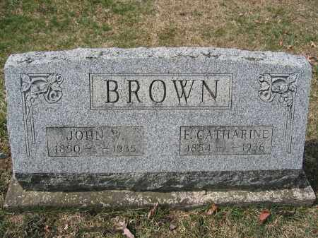 BROWN, F. CATHARINE - Union County, Ohio | F. CATHARINE BROWN - Ohio Gravestone Photos
