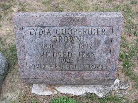 BROWN, LYDIA COOPERIDER - Union County, Ohio | LYDIA COOPERIDER BROWN - Ohio Gravestone Photos