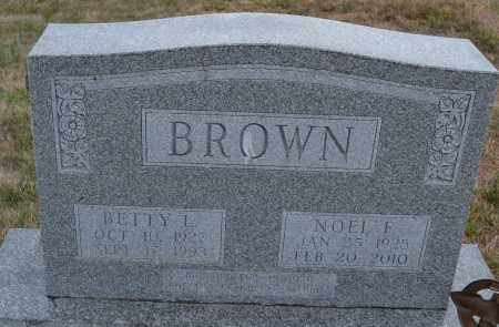 BROWN, NOEL F. - Union County, Ohio | NOEL F. BROWN - Ohio Gravestone Photos