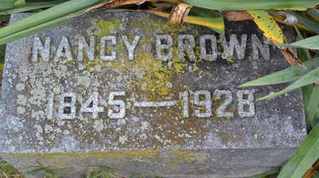 BROWN, NANCY - Union County, Ohio | NANCY BROWN - Ohio Gravestone Photos