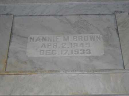 BROWN, NANNIE M. - Union County, Ohio | NANNIE M. BROWN - Ohio Gravestone Photos