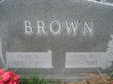 BROWN, LEOTA M - Union County, Ohio | LEOTA M BROWN - Ohio Gravestone Photos