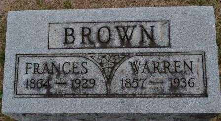 BROWN, FRANCES - Union County, Ohio | FRANCES BROWN - Ohio Gravestone Photos