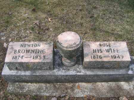 BROWNING, NEWTON - Union County, Ohio | NEWTON BROWNING - Ohio Gravestone Photos
