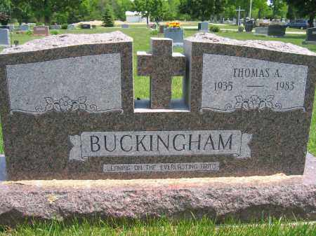 BUCKINGHAM, THOMAS A. - Union County, Ohio | THOMAS A. BUCKINGHAM - Ohio Gravestone Photos