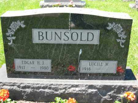BUNSOLD, EDGAR H.J. - Union County, Ohio | EDGAR H.J. BUNSOLD - Ohio Gravestone Photos