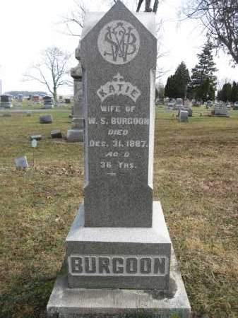 BURGOON, KATIE - Union County, Ohio | KATIE BURGOON - Ohio Gravestone Photos