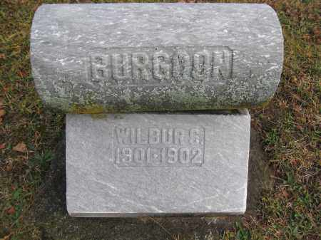 BURGOON, WILBUR - Union County, Ohio | WILBUR BURGOON - Ohio Gravestone Photos