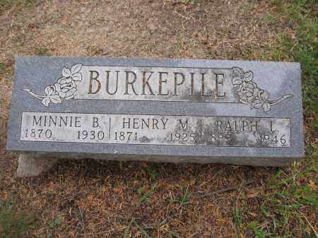 BURKEPILE, MINNIE B. - Union County, Ohio | MINNIE B. BURKEPILE - Ohio Gravestone Photos