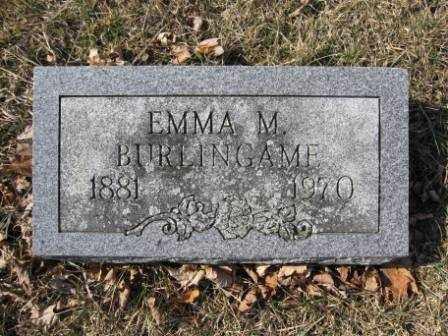 BURLINGAME, EMMA M. - Union County, Ohio | EMMA M. BURLINGAME - Ohio Gravestone Photos