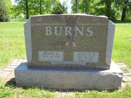 BURNS, MARILYN D. - Union County, Ohio | MARILYN D. BURNS - Ohio Gravestone Photos