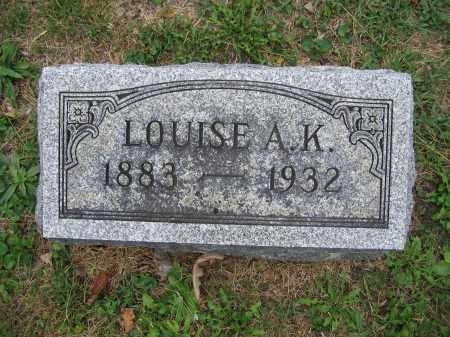 BURNS, LOUISE A.K. - Union County, Ohio | LOUISE A.K. BURNS - Ohio Gravestone Photos