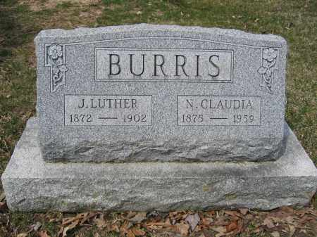 BURRIS, J. LUTHER - Union County, Ohio | J. LUTHER BURRIS - Ohio Gravestone Photos