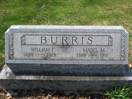 BURRIS, WILLIAM F. - Union County, Ohio | WILLIAM F. BURRIS - Ohio Gravestone Photos