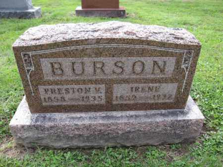 BURSON, PRESTON V. - Union County, Ohio | PRESTON V. BURSON - Ohio Gravestone Photos
