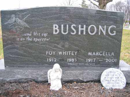 "BUSHONG, FOY ""WHITEY"" - Union County, Ohio 
