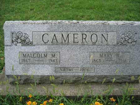 CAMERON, MALCOLM M. - Union County, Ohio | MALCOLM M. CAMERON - Ohio Gravestone Photos