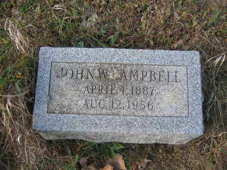 CAMPBELL, JOHN W. - Union County, Ohio | JOHN W. CAMPBELL - Ohio Gravestone Photos