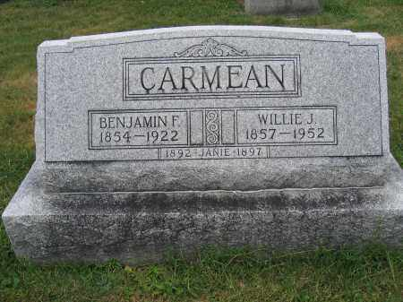CARMEAN, BENJAMIN F. - Union County, Ohio | BENJAMIN F. CARMEAN - Ohio Gravestone Photos