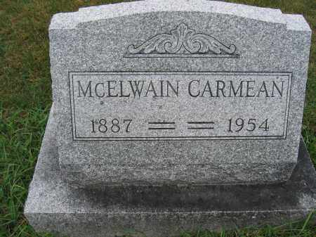 CARMEAN, MCELWAIN - Union County, Ohio | MCELWAIN CARMEAN - Ohio Gravestone Photos